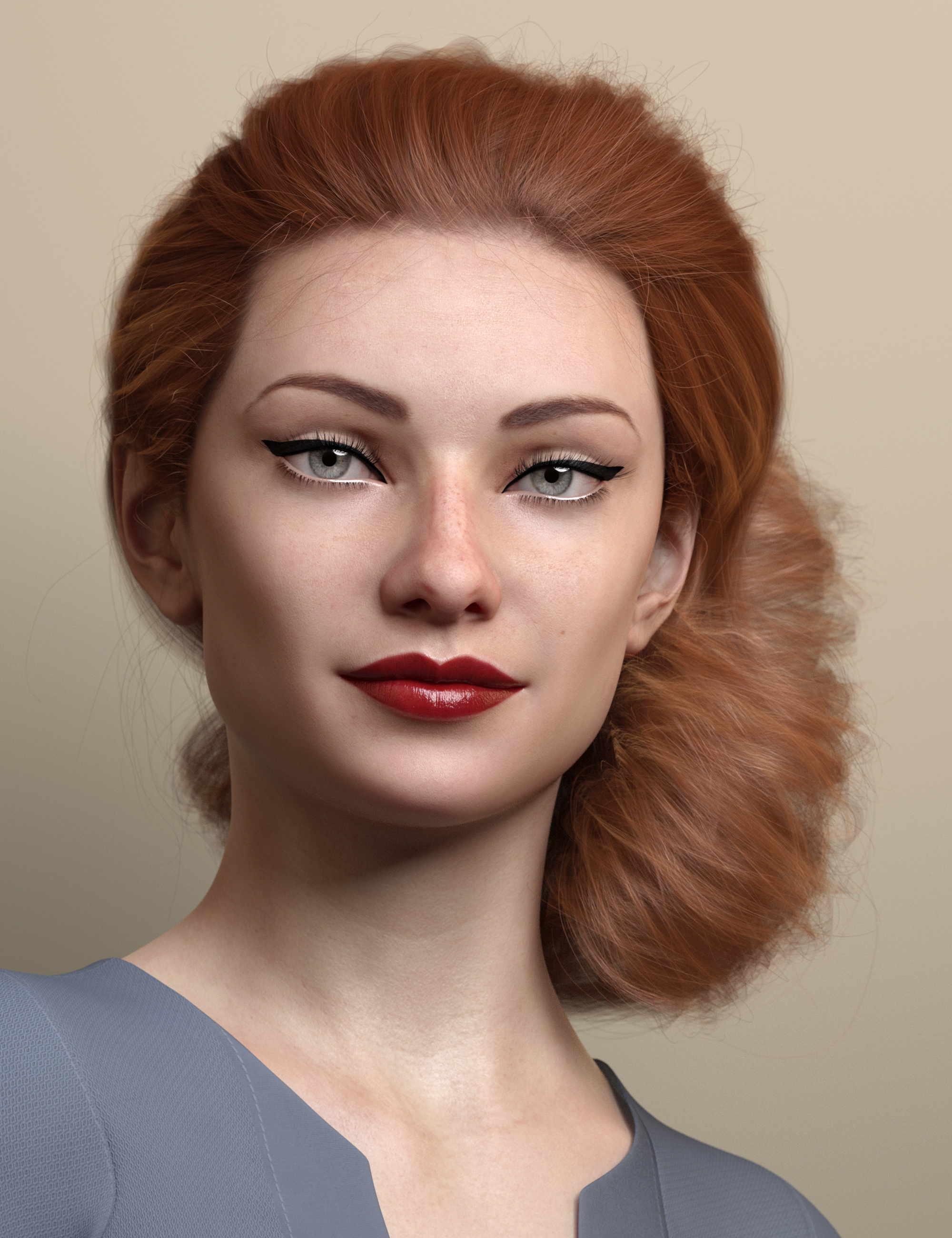 Low Updo Hair for Genesis 3 and 8 Female(s) by: outoftouch, 3D Models by Daz 3D