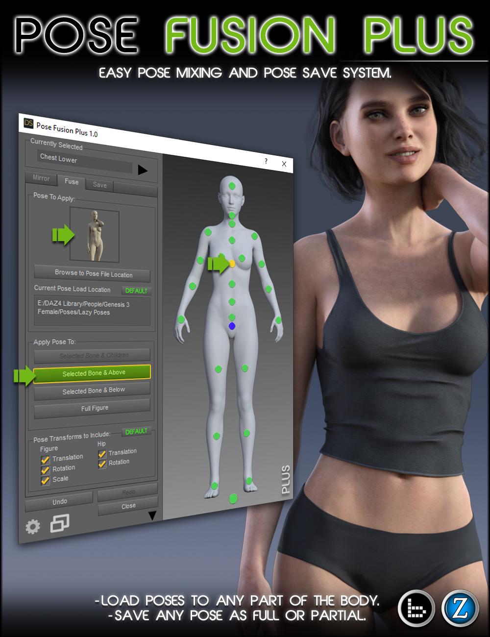 Pose Fusion Plus for Genesis to Genesis 8 by: Zev0bitwelder, 3D Models by Daz 3D