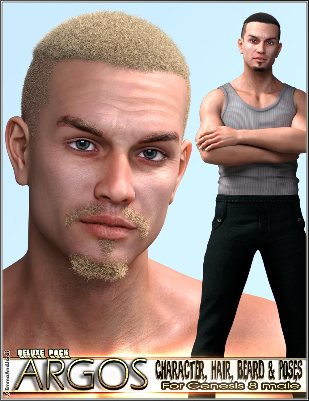 EJ Argos Deluxe Pack for Genesis 8 Male by: EmmaAndJordi, 3D Models by Daz 3D
