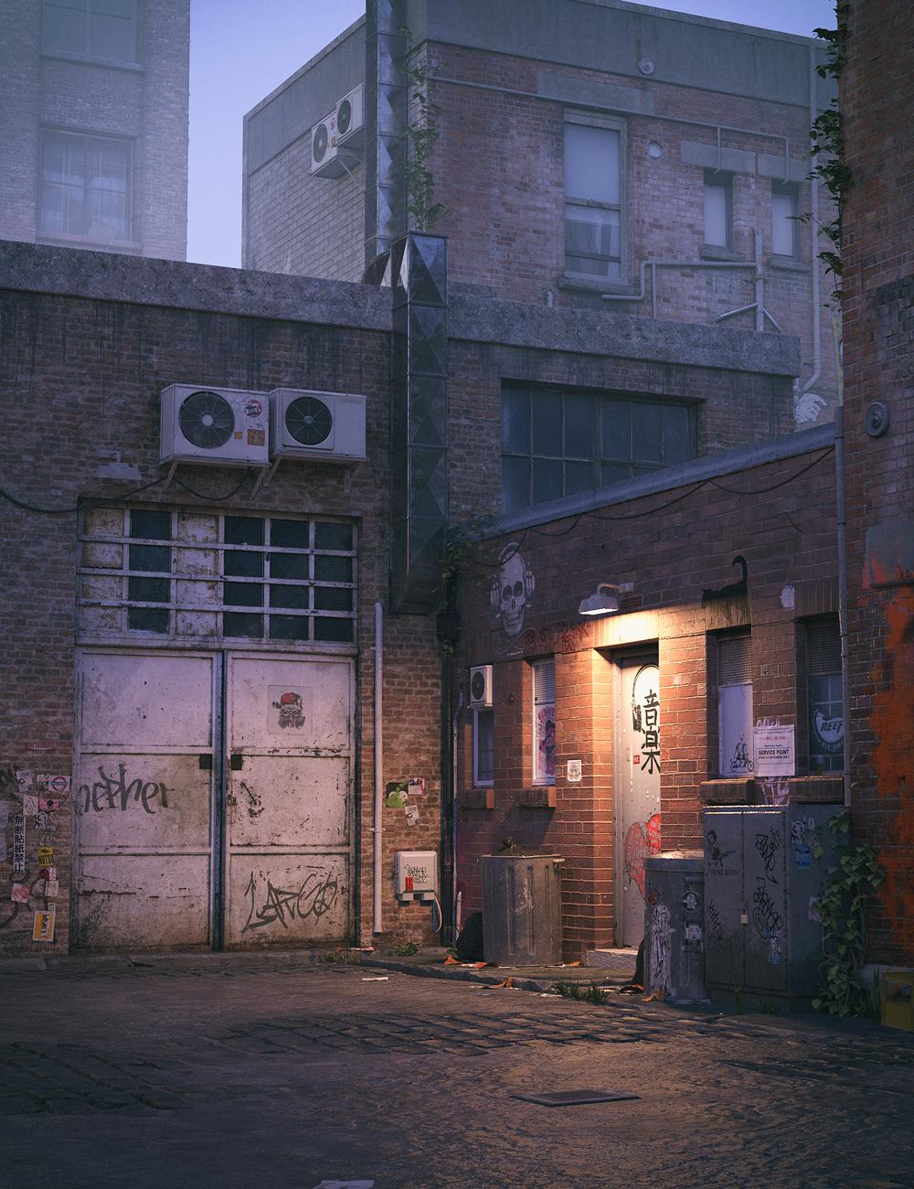 Urban Alley by: Stonemason, 3D Models by Daz 3D
