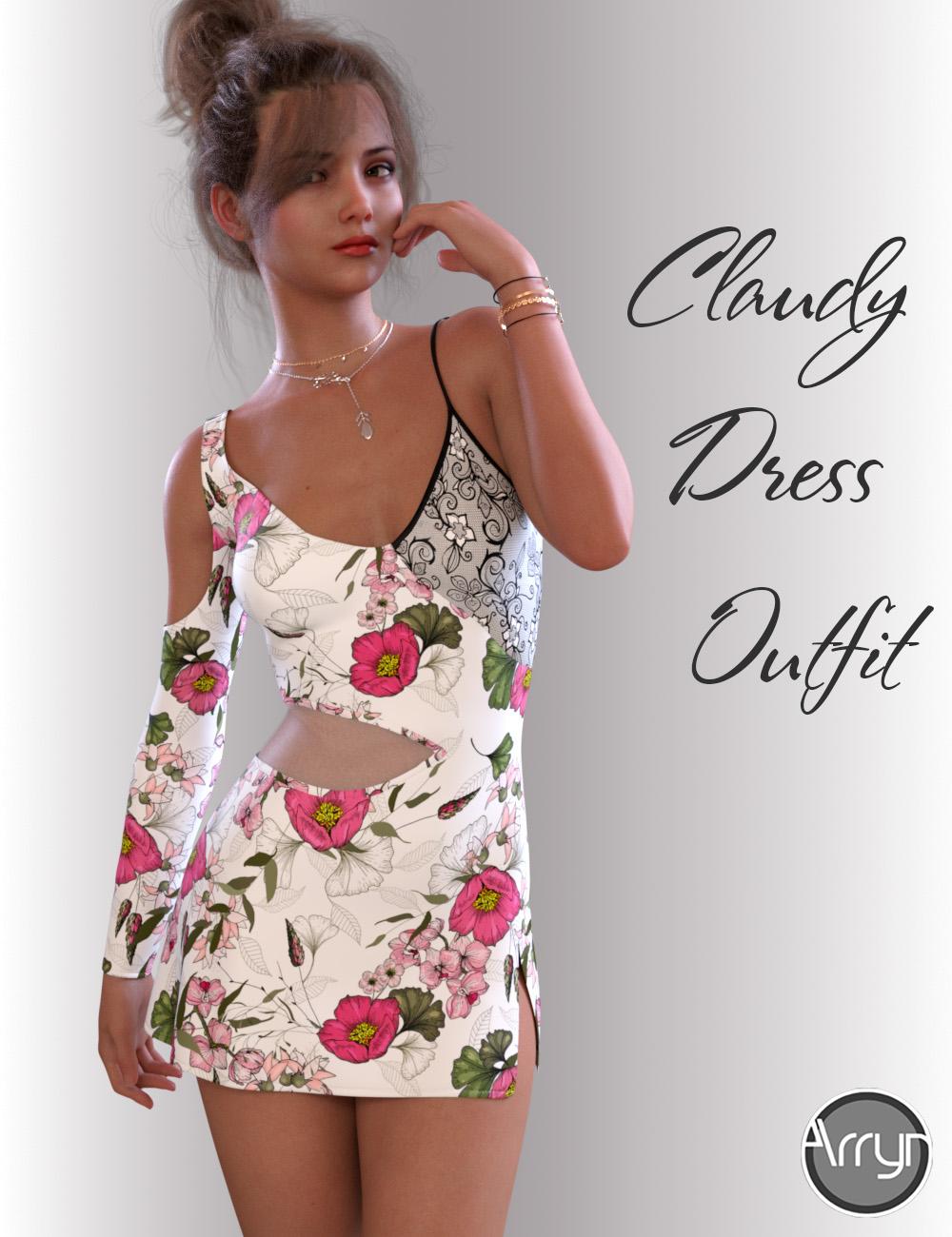 dForce Claudy Candy Dress for Genesis 8 Female(s) by: OnnelArryn, 3D Models by Daz 3D