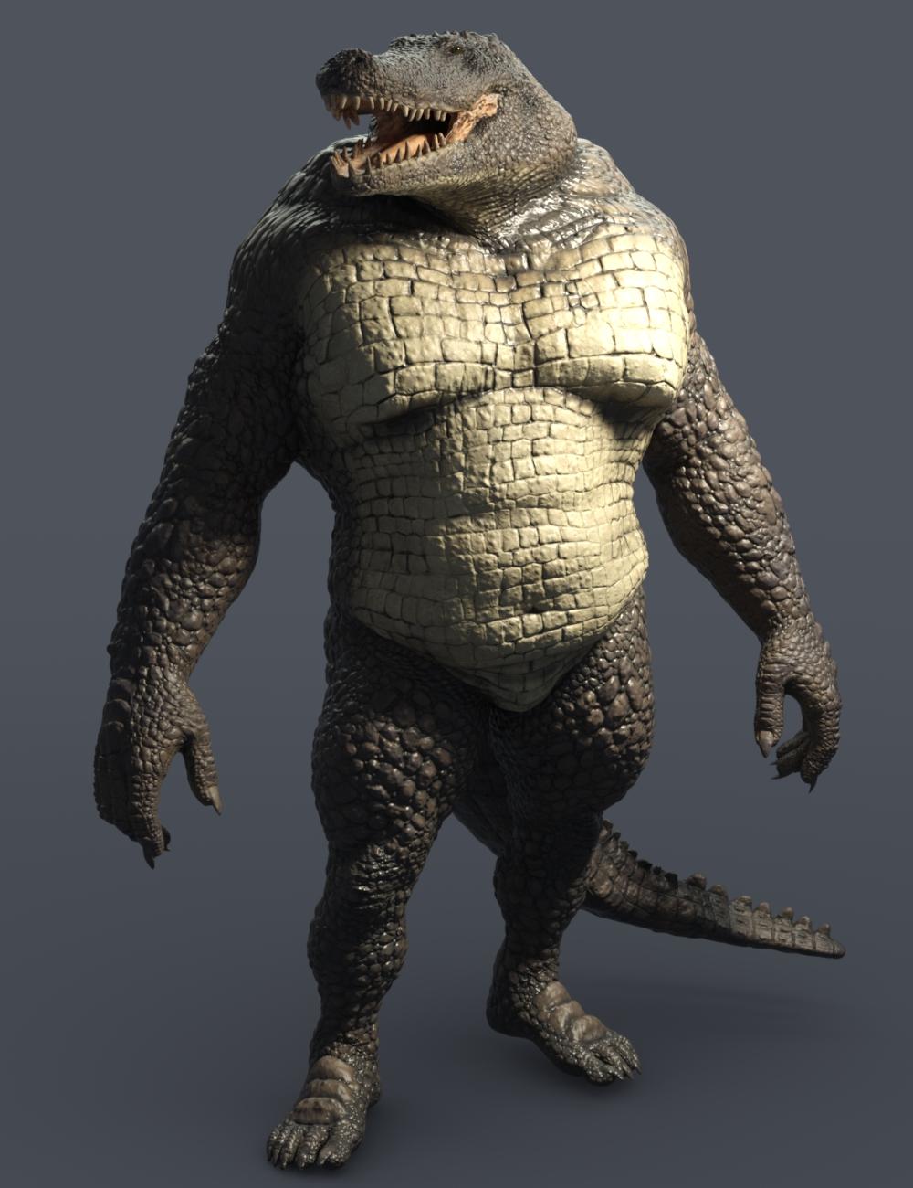 Sobek HD Crocodile for Genesis 8 Male by: JoeQuick, 3D Models by Daz 3D