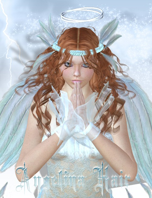 Angelina Hair by: goldtasselSWAM, 3D Models by Daz 3D