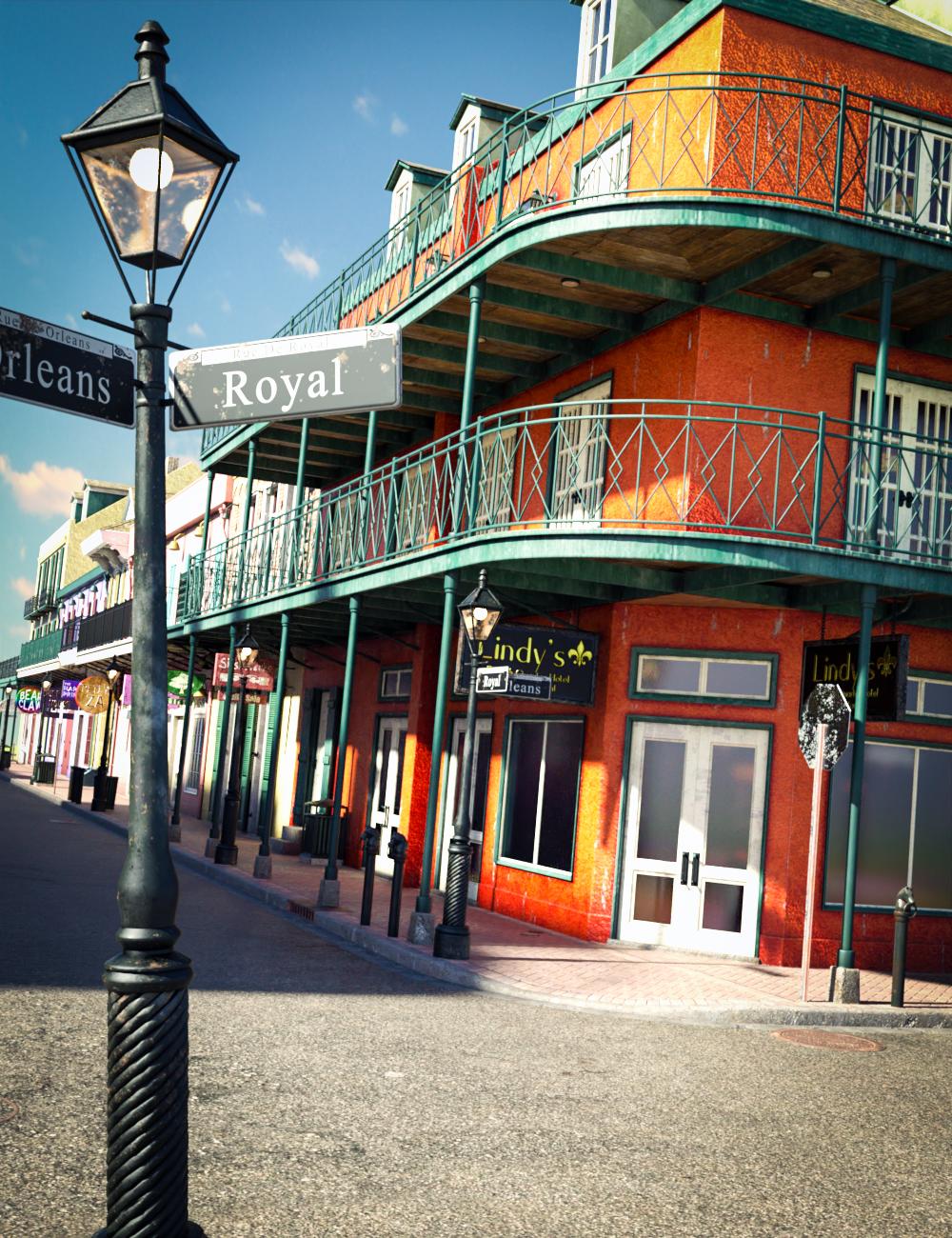 SW French Quarter - Lindy's Corner by: SloshWerks, 3D Models by Daz 3D