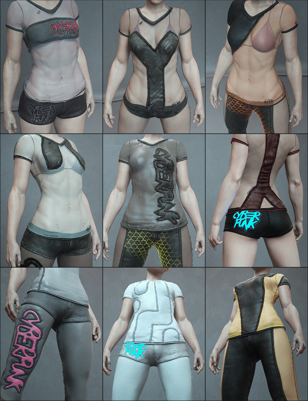 Cyberpunk Futuristic Styles for Everyday 2 by: Aeon Soul, 3D Models by Daz 3D