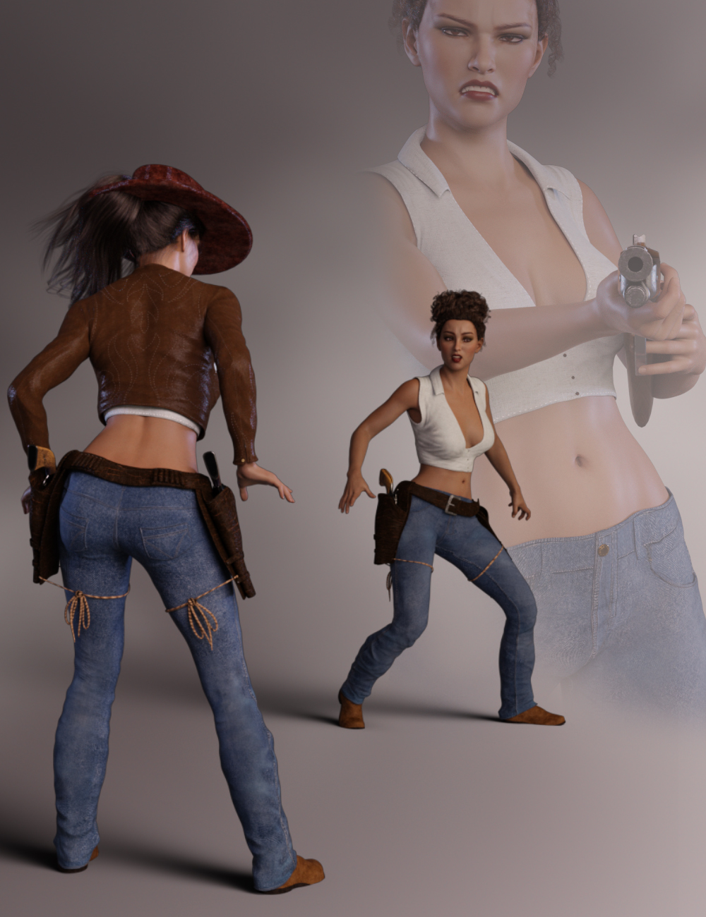 Ruthless for Honni 8 and Genesis 8 Female by: lunchlady, 3D Models by Daz 3D