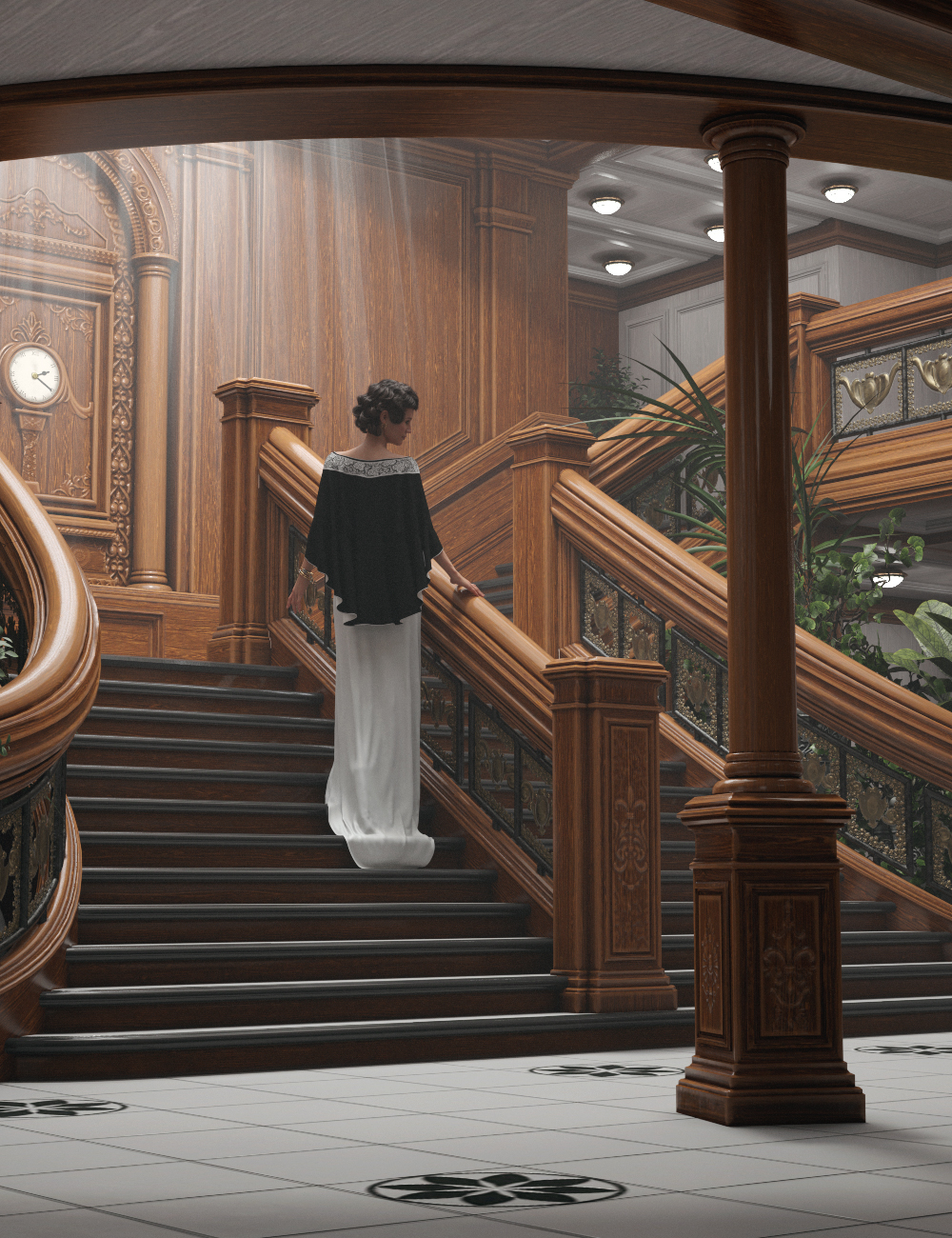 Grand Staircase 2020 by: GolaM, 3D Models by Daz 3D