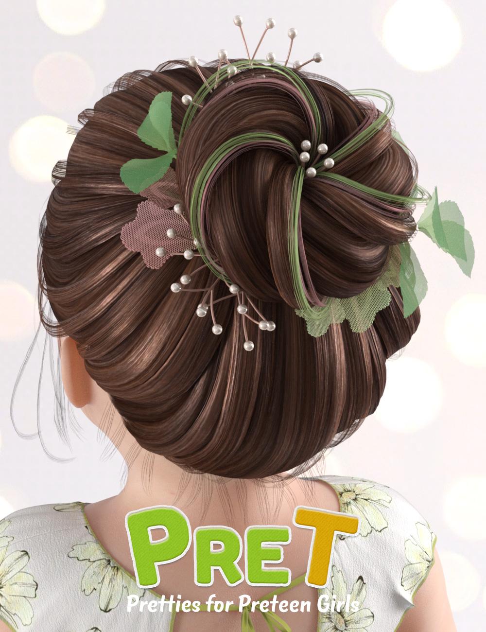 PreT Girls Bloom Hair for Genesis 8 Female(s) by: elleque, 3D Models by Daz 3D