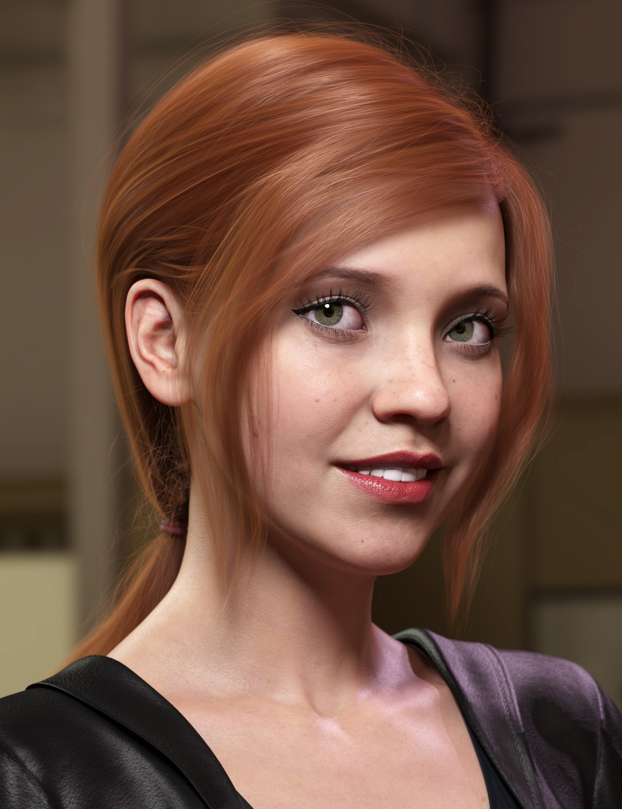 Low Ponytail Hair for Genesis 3 and 8 Female(s) by: outoftouch, 3D Models by Daz 3D