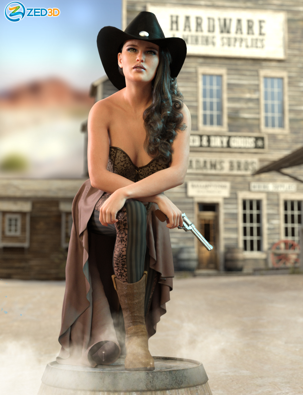 Z Prairie Life Poses and Expressions for Honni 8 by: Zeddicuss, 3D Models by Daz 3D