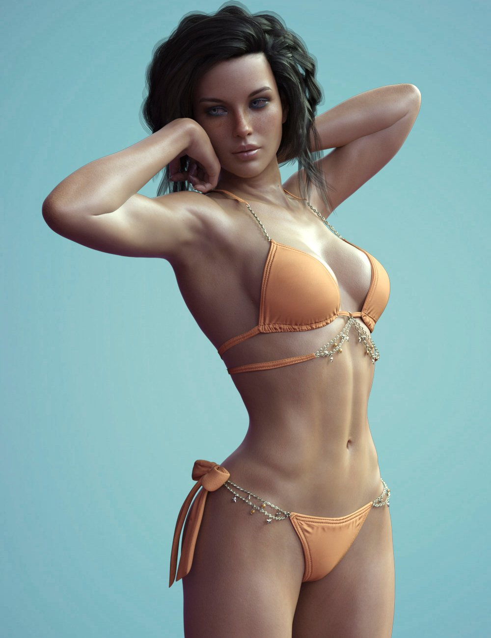 X-Fashion Chic Bikini for Genesis 8 Female(s) by: xtrart-3d, 3D Models by Daz 3D