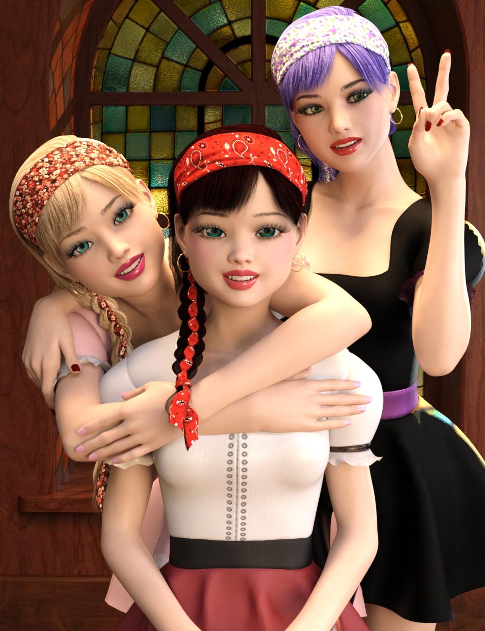 Violetta for Genesis 8 Female by: Tsukikawa, 3D Models by Daz 3D
