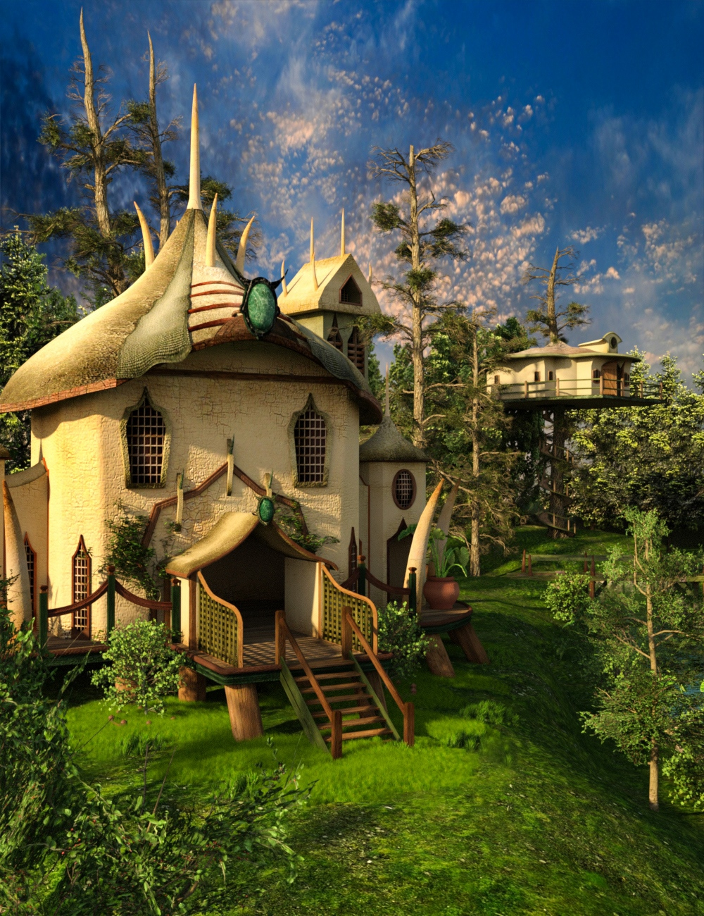 Elf Village and World Builder by: Magix 101, 3D Models by Daz 3D