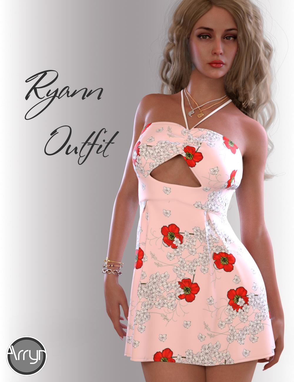 dForce Ryann Candy Outfit for Genesis 8 Female(s) by: OnnelArryn, 3D Models by Daz 3D