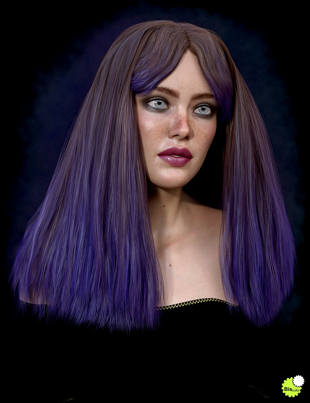 Texture Expansion for Biscuits Flo Hair by: Biscuits, 3D Models by Daz 3D