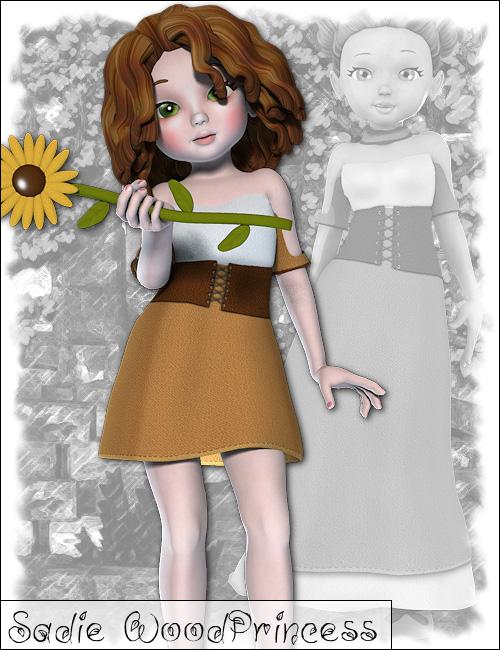 Sadie Wood Princess by: , 3D Models by Daz 3D