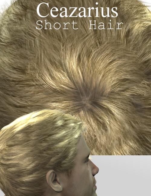 Ceazarius Short Hair by: Neftis3D, 3D Models by Daz 3D