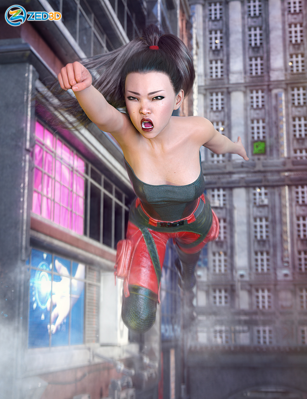 Z Epic Moves Poses and Expressions for Sukai 8 by: Zeddicuss, 3D Models by Daz 3D