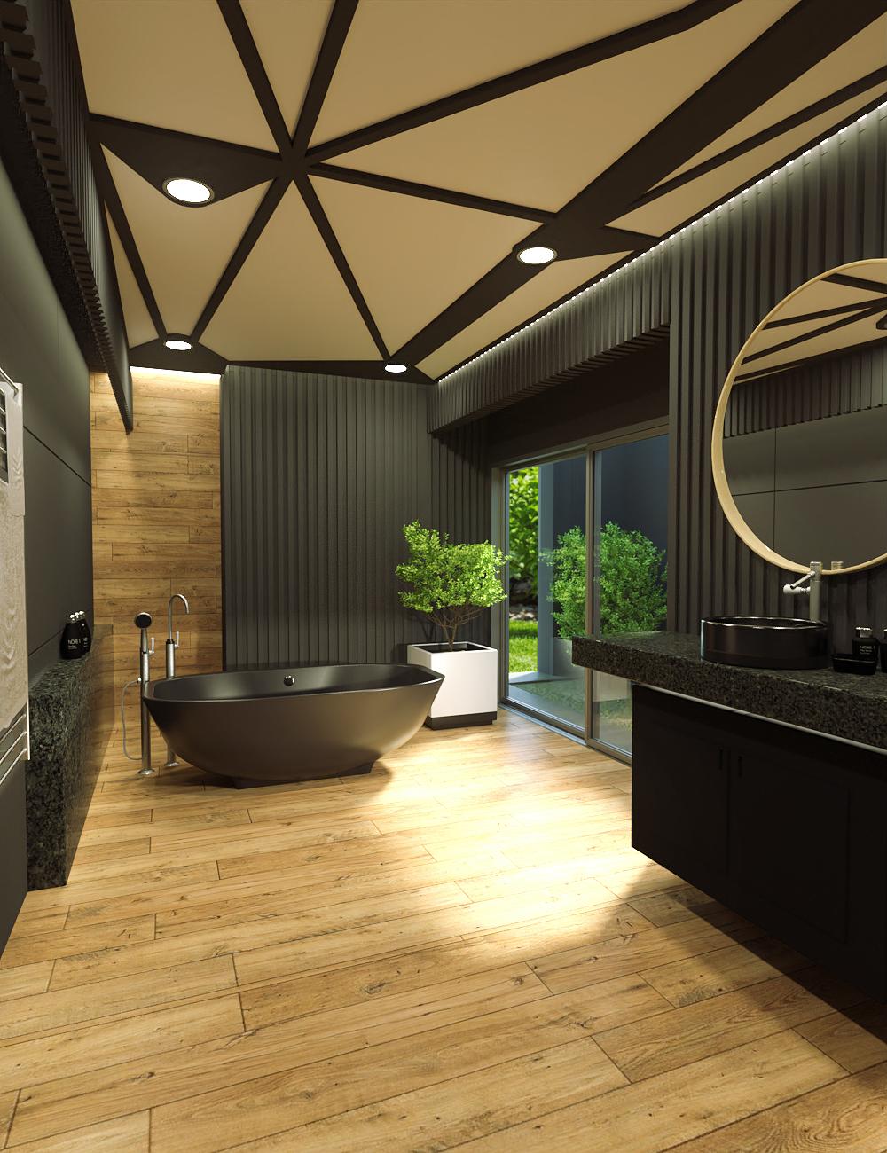 Scandinavian Bathroom by: kubramatic, 3D Models by Daz 3D
