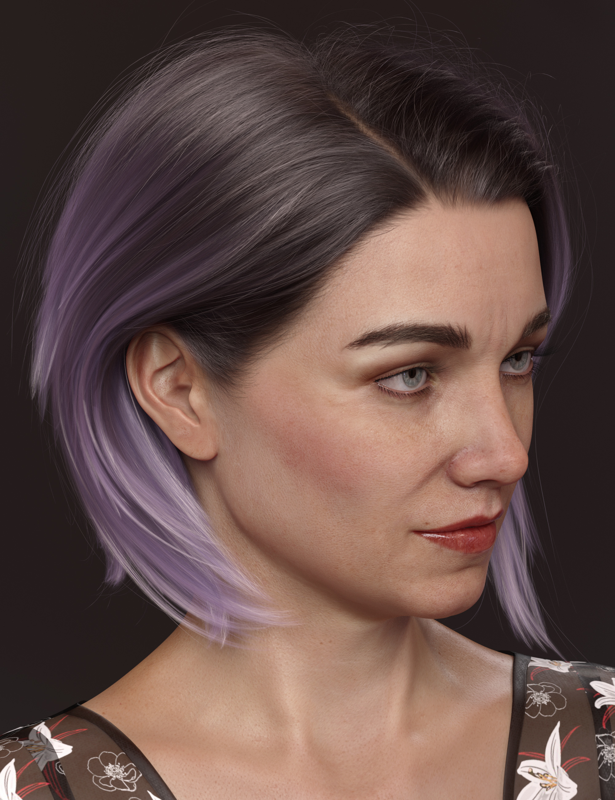 Texture Expansion for Martha's Everyday Bob by: outoftouch, 3D Models by Daz 3D