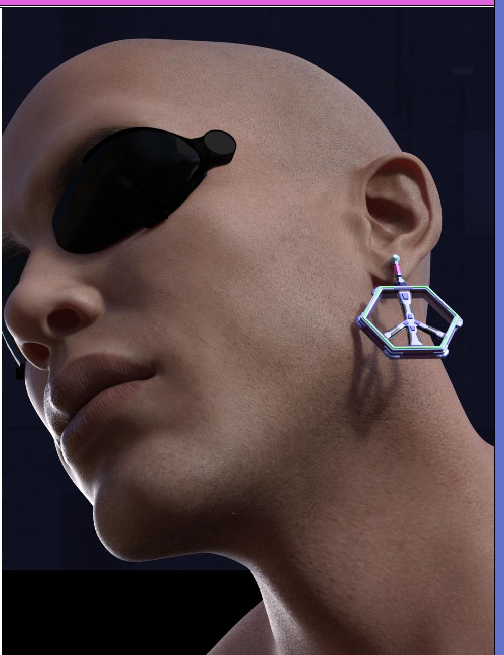 Just Earrings - El Nano Punk'd by: inception8, 3D Models by Daz 3D