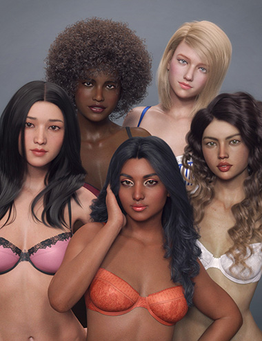 Beauties of the World for Genesis 8 Female