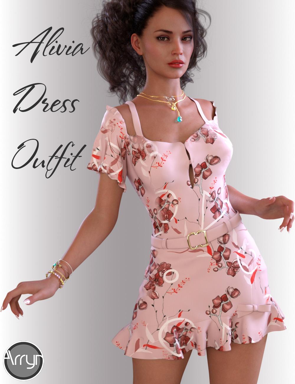 dForce Alivia Candy Dress for Genesis 8 Female(s) by: OnnelArryn, 3D Models by Daz 3D