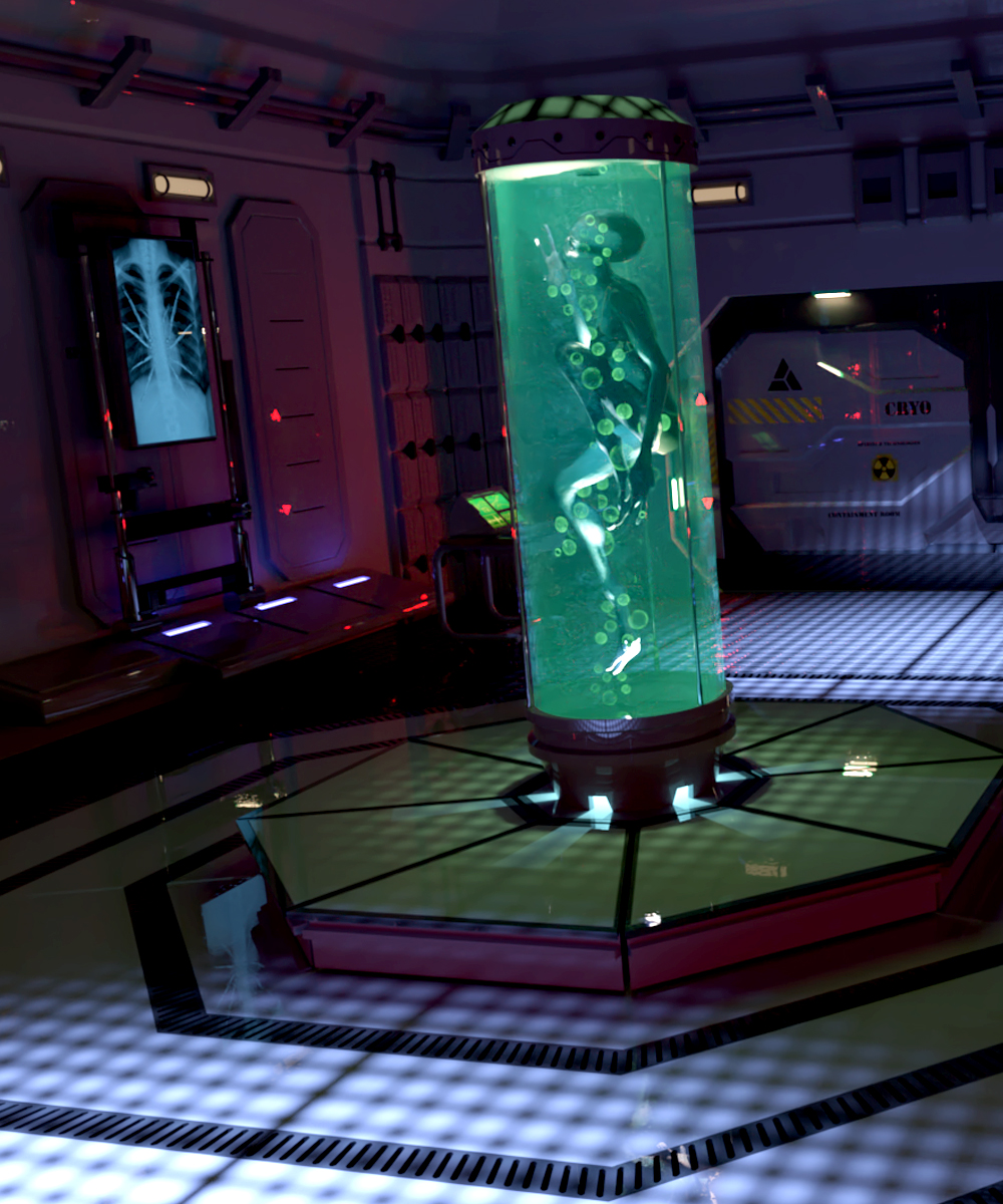Cloning Laboratory by: DarkEdgeDesign, 3D Models by Daz 3D