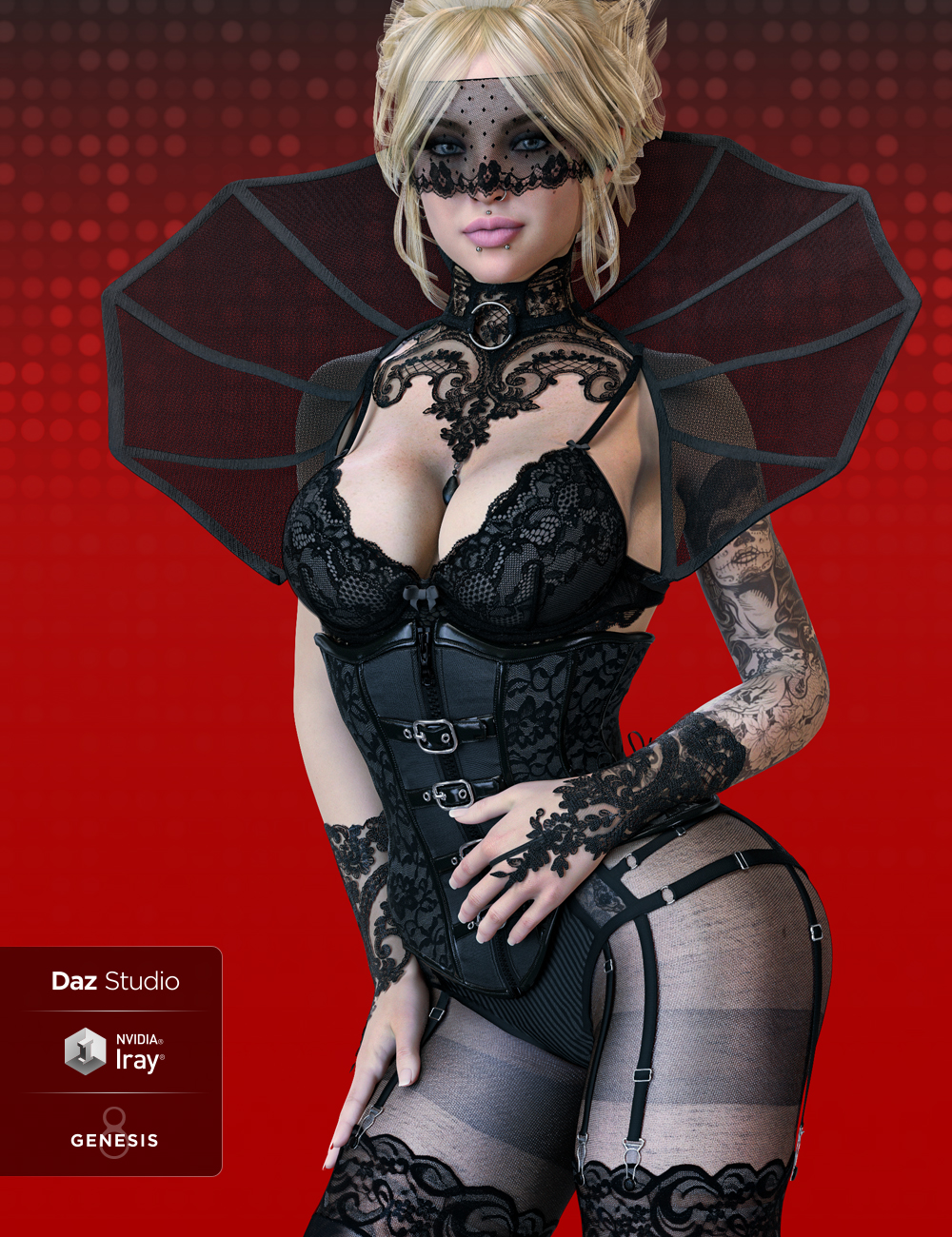 Mystique 2 for Genesis 8 Female(s) by: Herschel Hoffmeyer, 3D Models by Daz 3D
