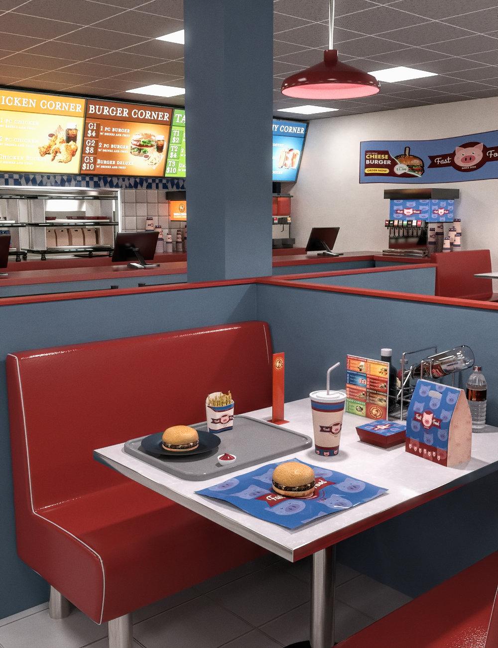 FG Fast Food by: Fugazi1968Ironman, 3D Models by Daz 3D