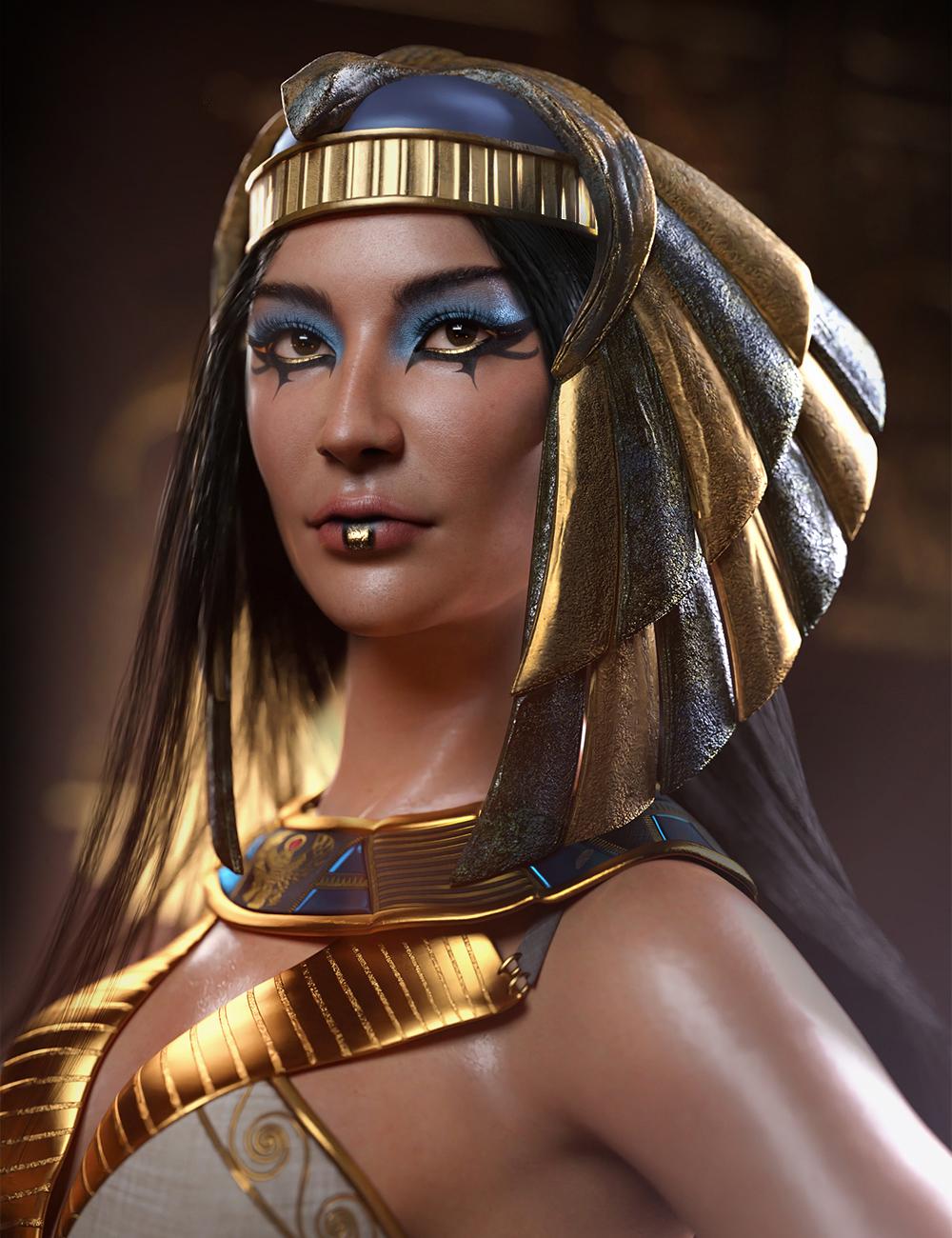 Egyptian Pharaoh Makeup by: SR3, 3D Models by Daz 3D