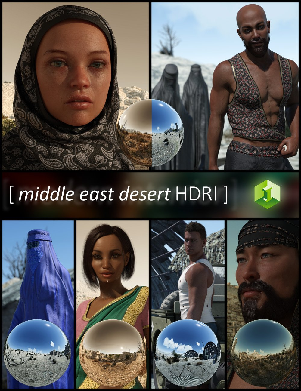Middle East Desert HDRI by: JDA HDRI, 3D Models by Daz 3D