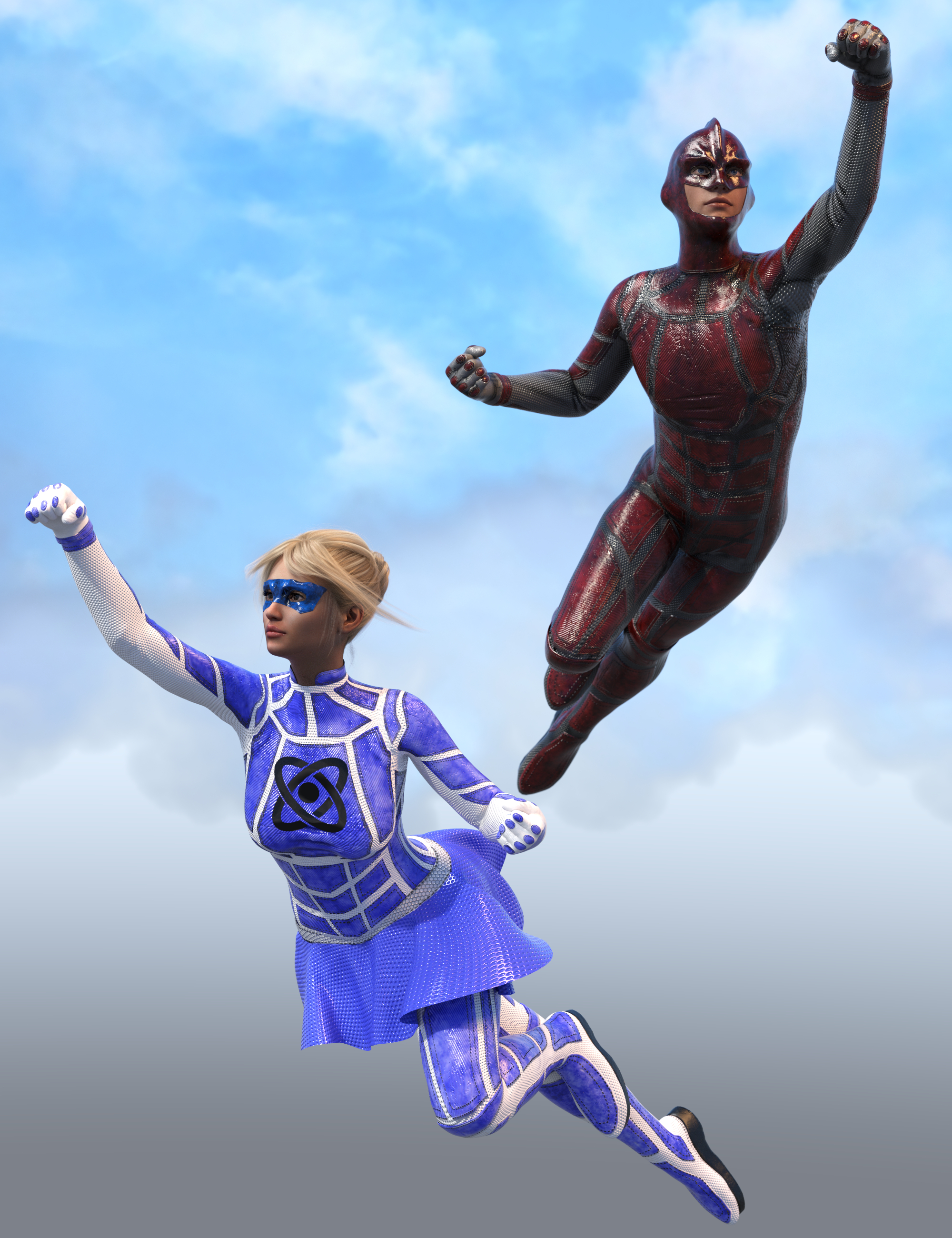 SY Super Suits for Genesis 8 by: Sickleyield, 3D Models by Daz 3D