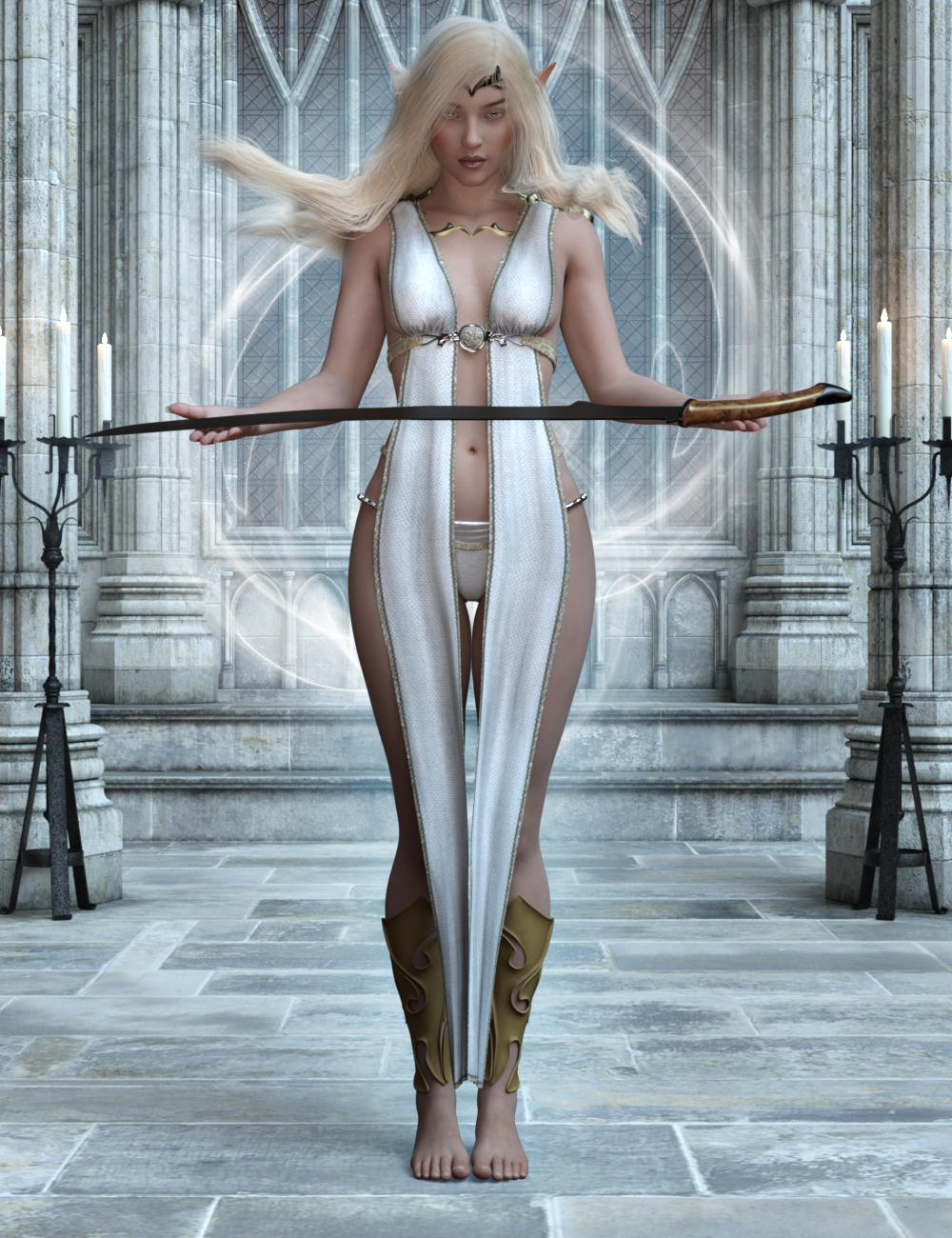 High Elf Poses for Genesis 8 and 8.1 Female by: Ensary, 3D Models by Daz 3D