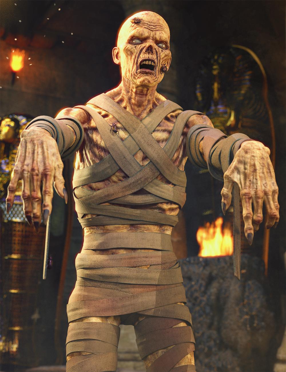 Mummy HD for Genesis 8 Male by: Josh Crockett, 3D Models by Daz 3D