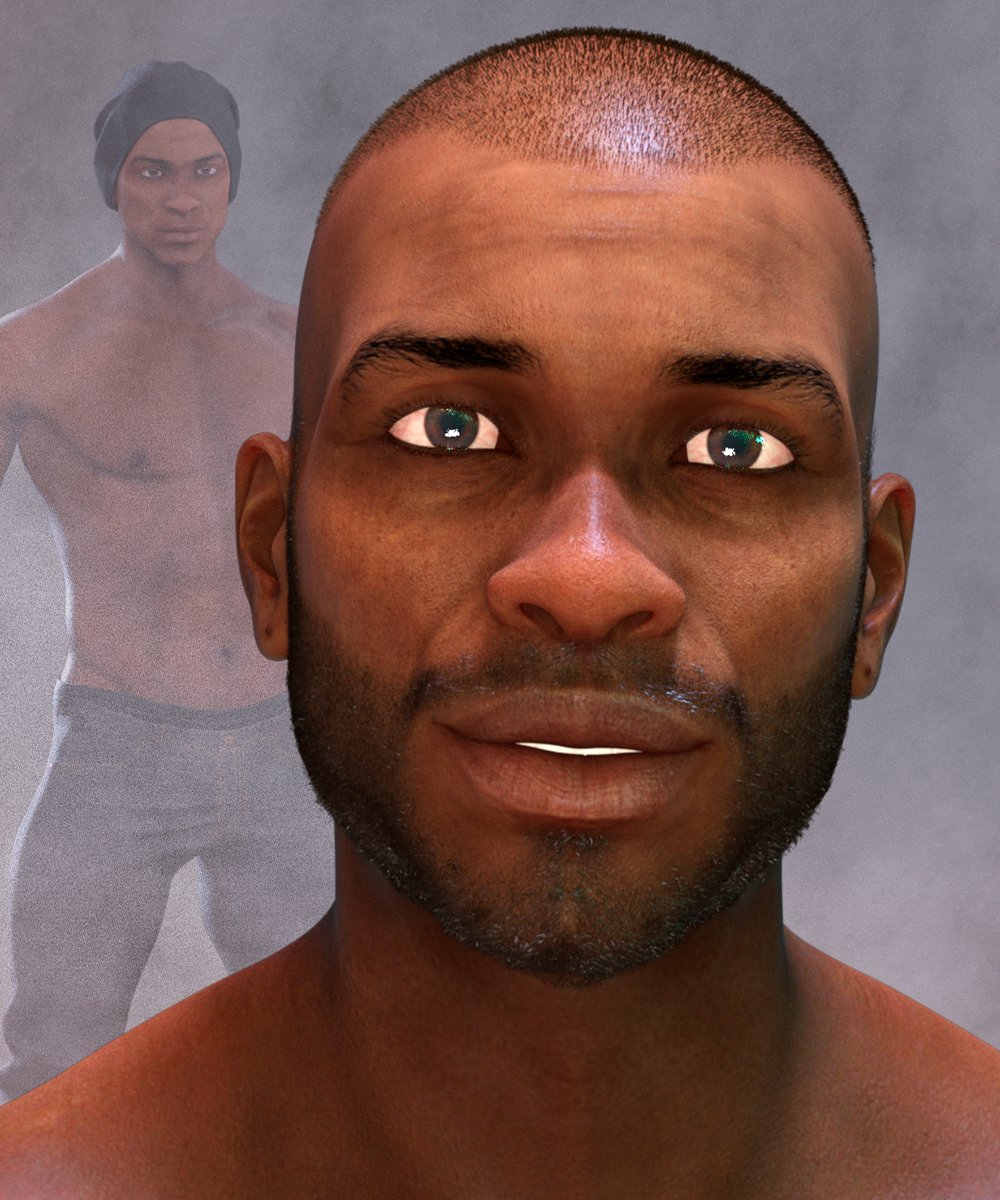 Khalan Character and Hair for Genesis 8 Male by: Matari3D, 3D Models by Daz 3D