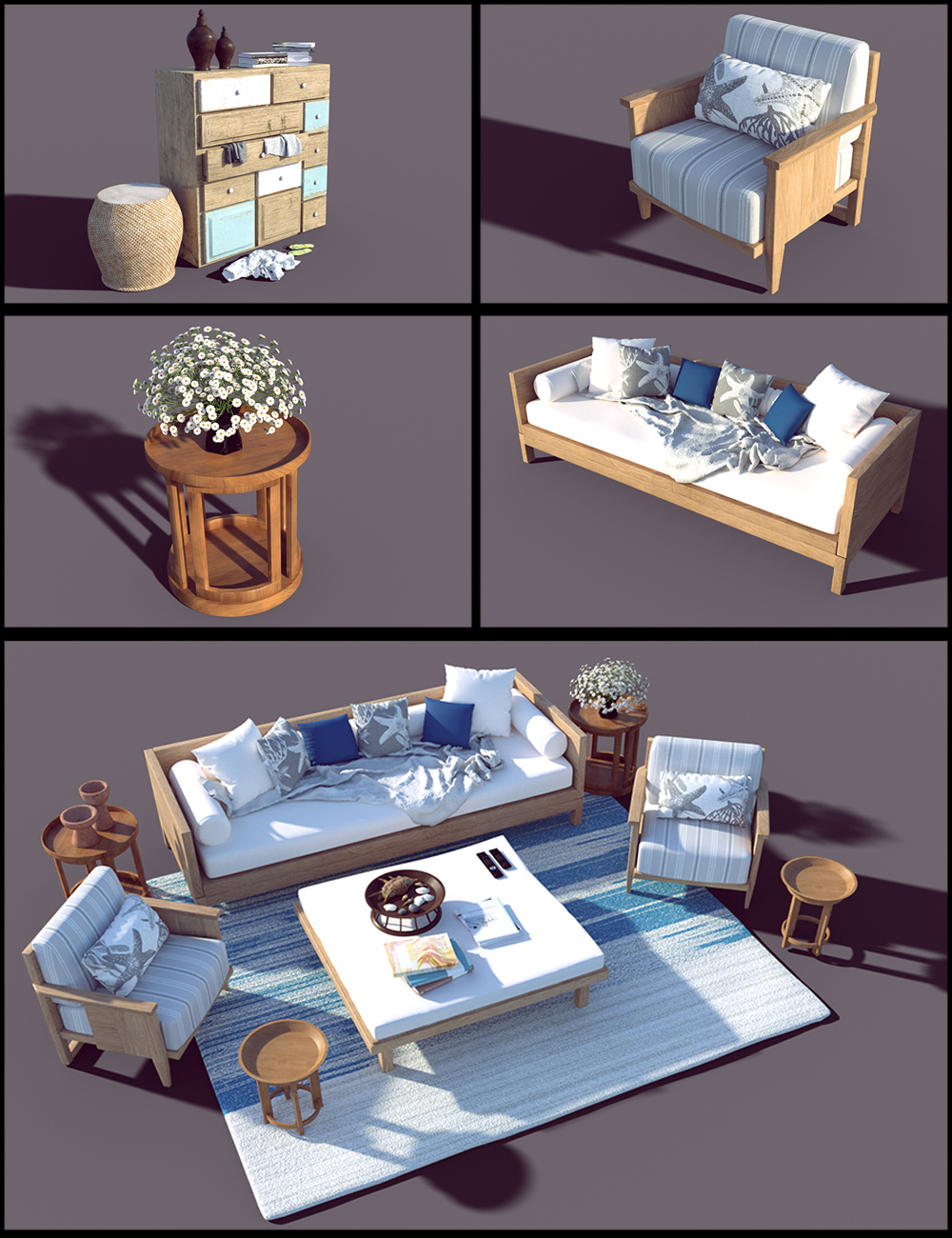 Honeymoon Living Room Props by: Polish, 3D Models by Daz 3D