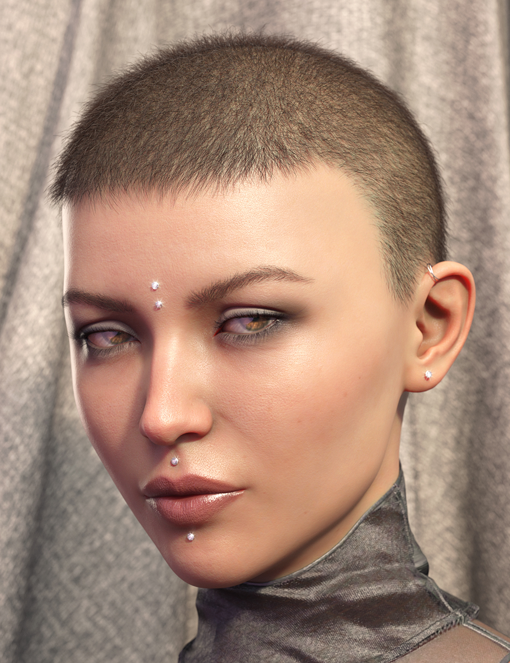 LI La Femme Hair for Genesis 8 Female(s) by: Laticis Imagery, 3D Models by Daz 3D