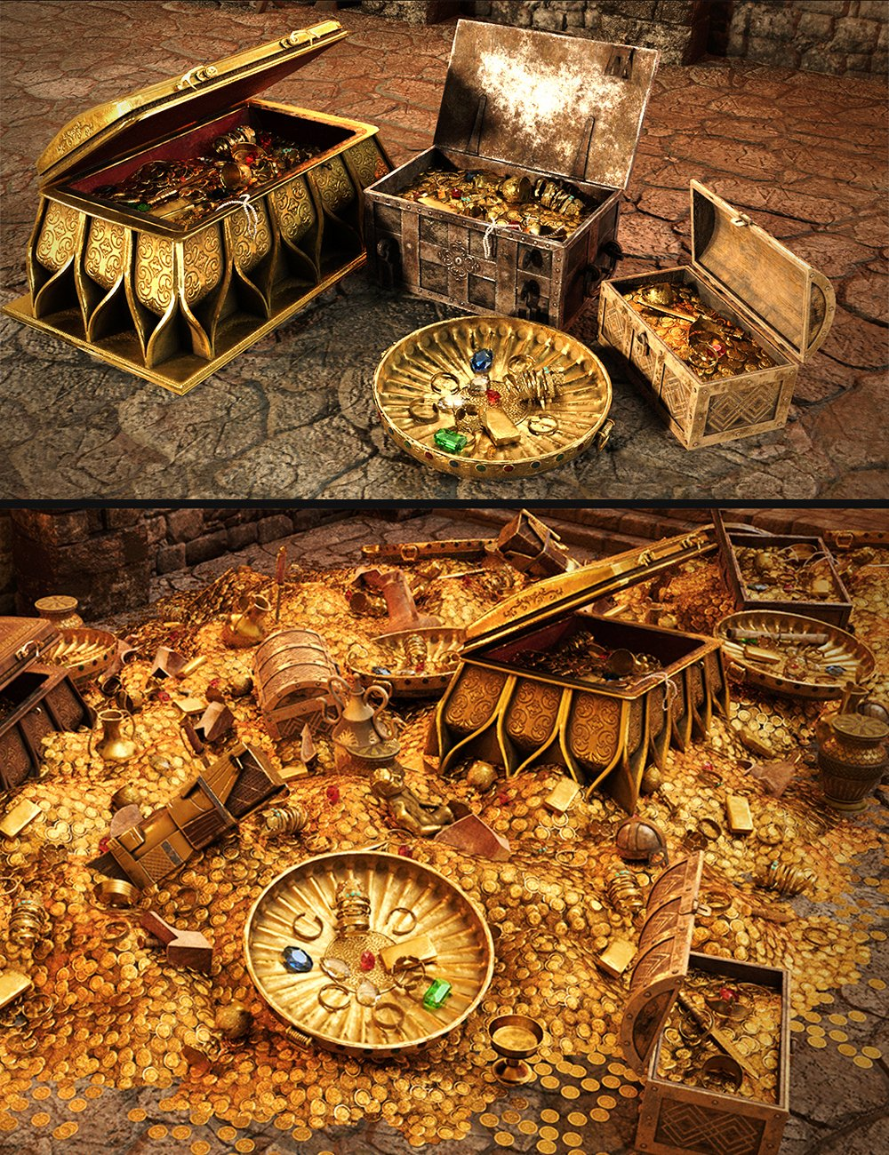 Ancient Treasure by: Dekogon Studios, 3D Models by Daz 3D