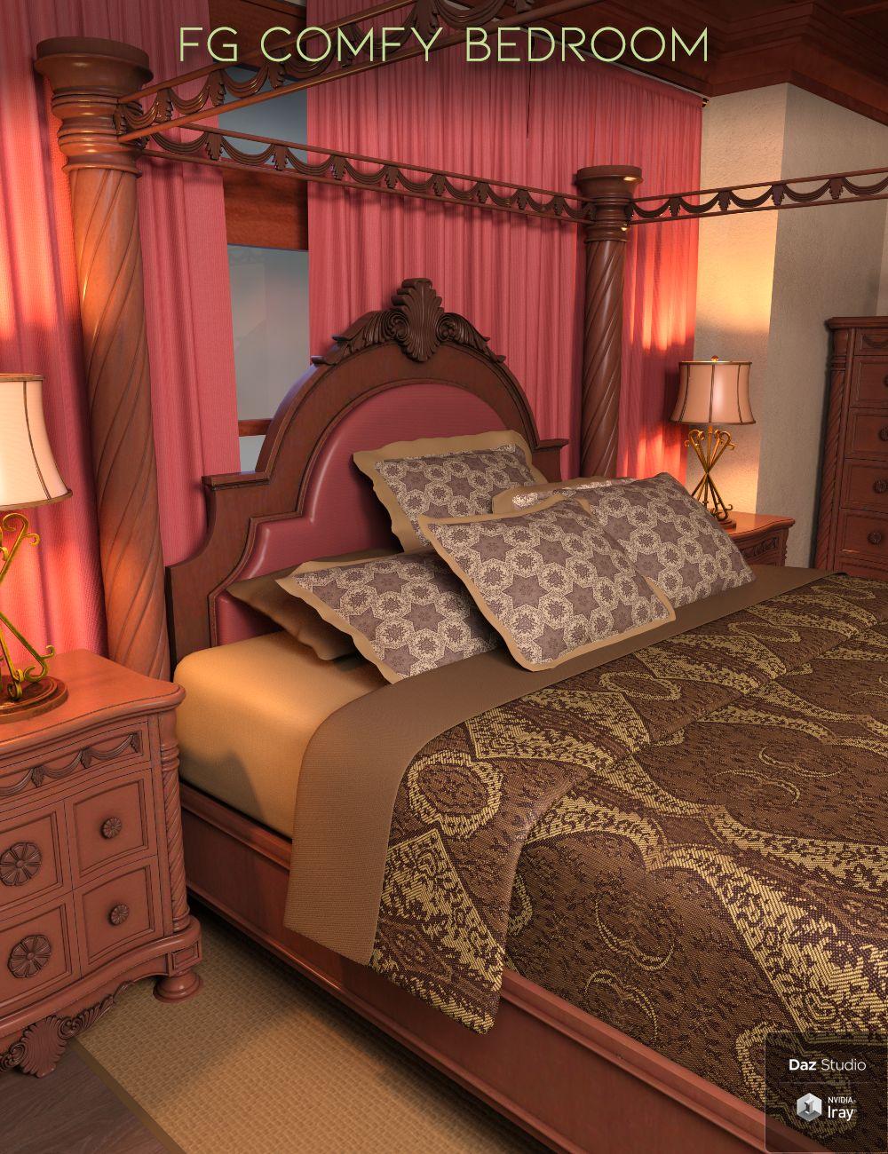 FG Comfy Bedroom by: Paper TigerFugazi1968Ironman, 3D Models by Daz 3D