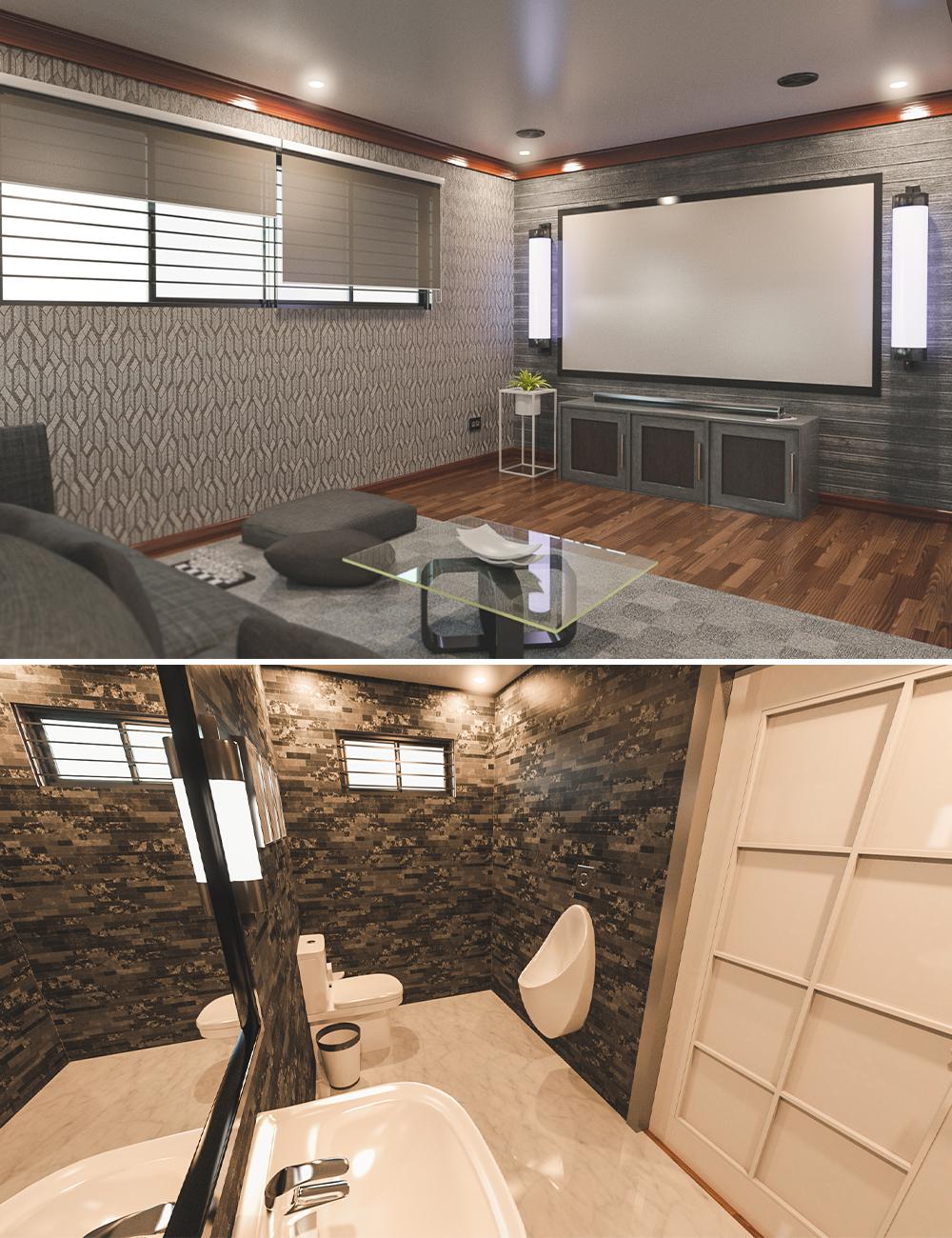 Avil Entertainment Room by: Tesla3dCorp, 3D Models by Daz 3D