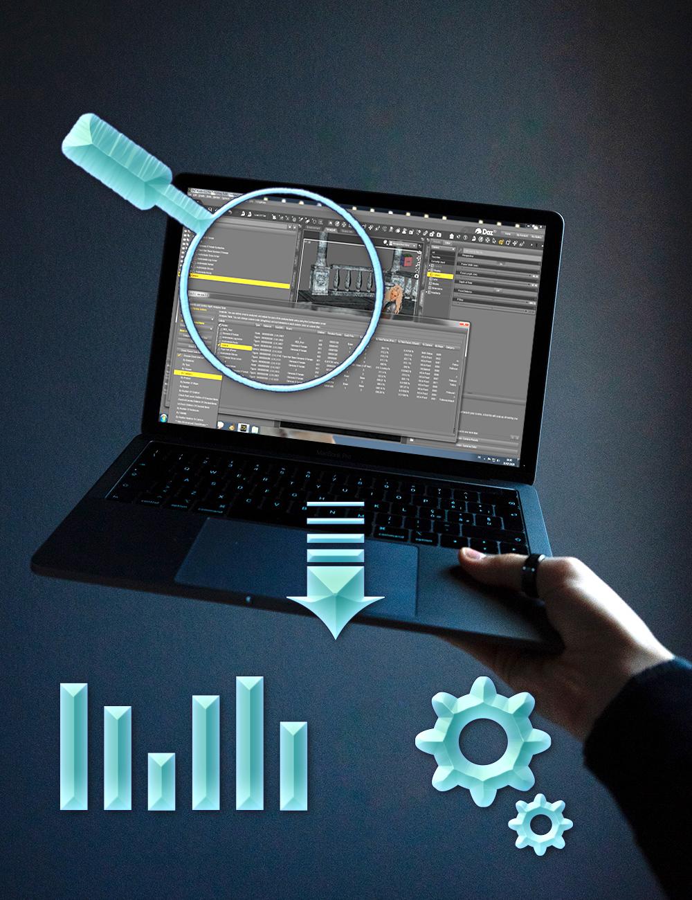 Scene Analyzer Organizer Simplifier by: V3Digitimes, 3D Models by Daz 3D