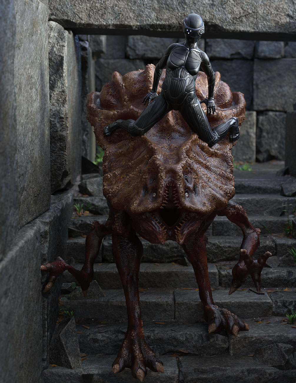 Big Bug Poses for Xenotype: Specimen Alpha by: Greybro, 3D Models by Daz 3D