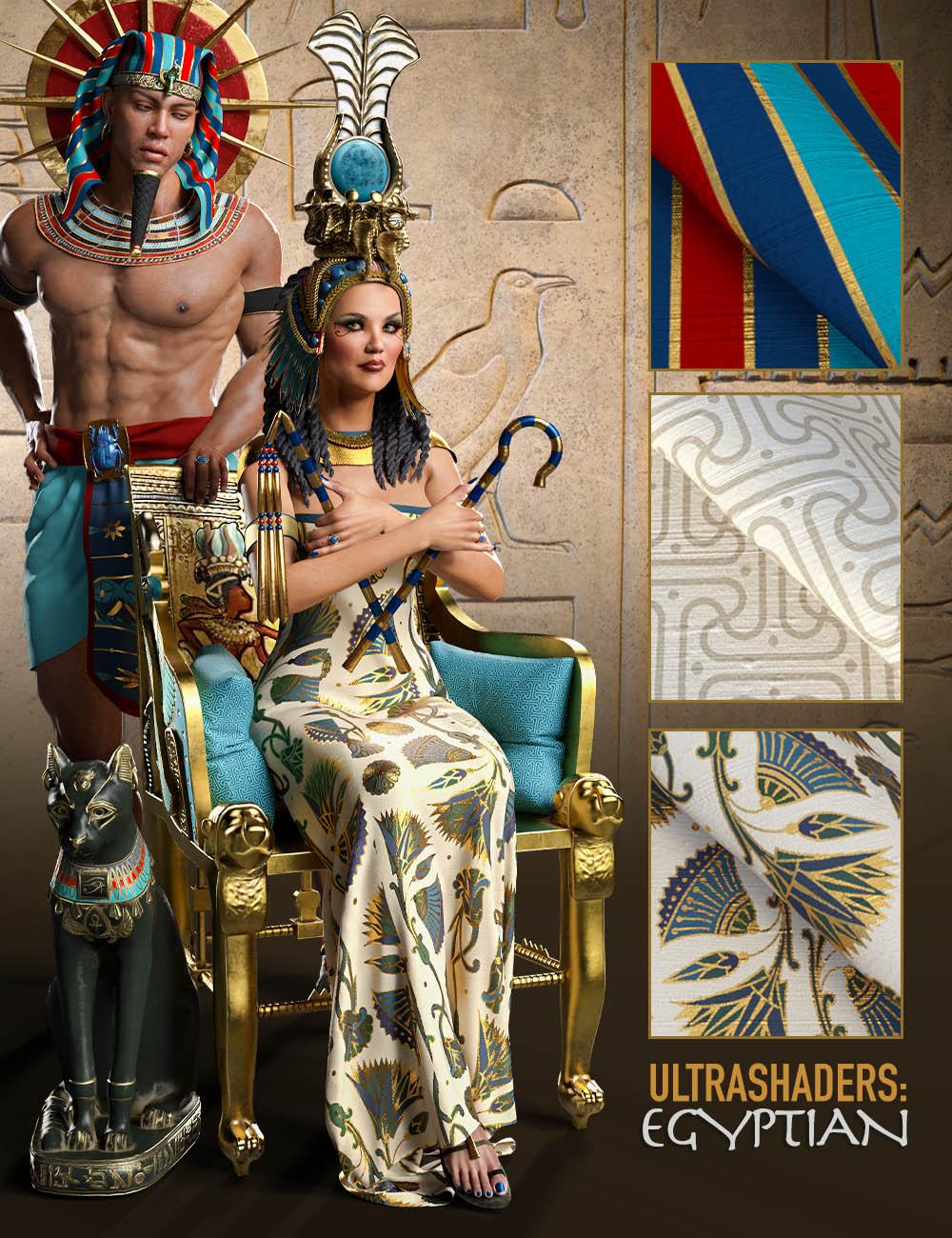 Ultra Shaders: Egyptian Fabrics by: Zai by DesignCG Boss, 3D Models by Daz 3D