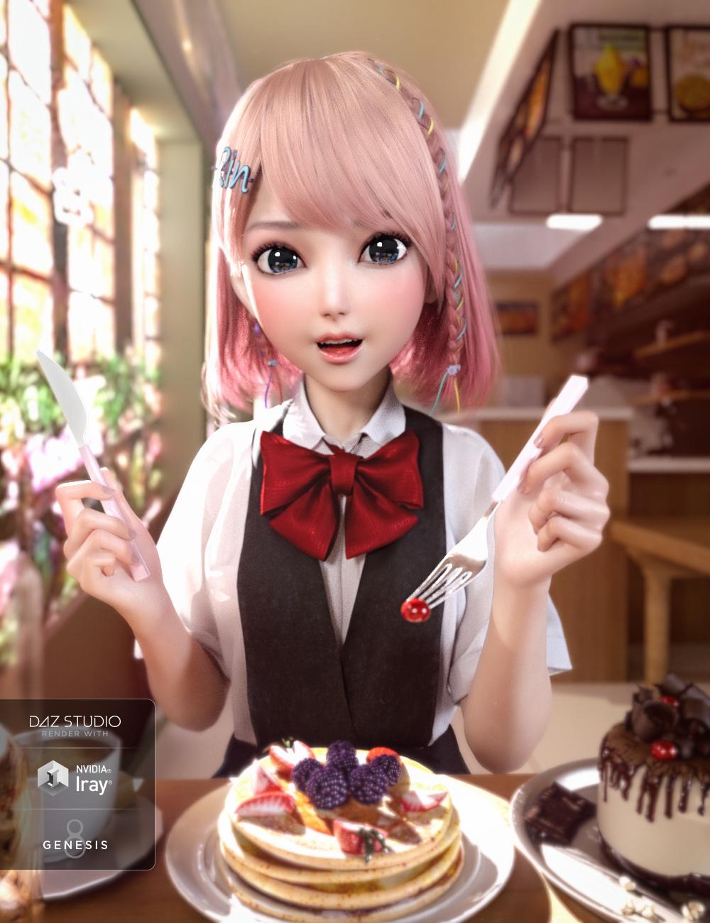 Rin for Genesis 8 Female by: Crocodile Liu, 3D Models by Daz 3D