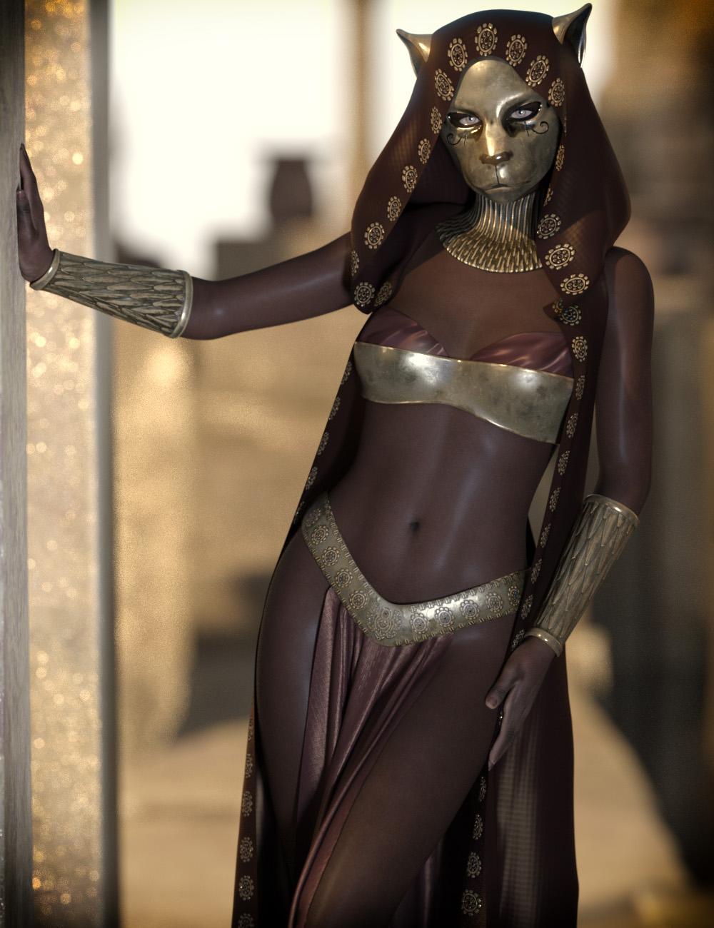 dForce CB Hekau for Genesis 8 Females by: CynderBlue, 3D Models by Daz 3D