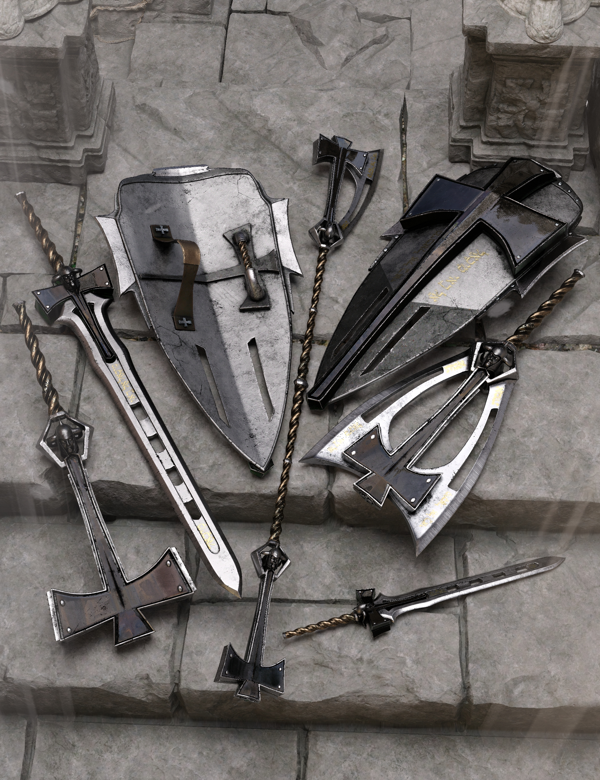 Bellum Animis 2 Weapons Collection by: Britech, 3D Models by Daz 3D