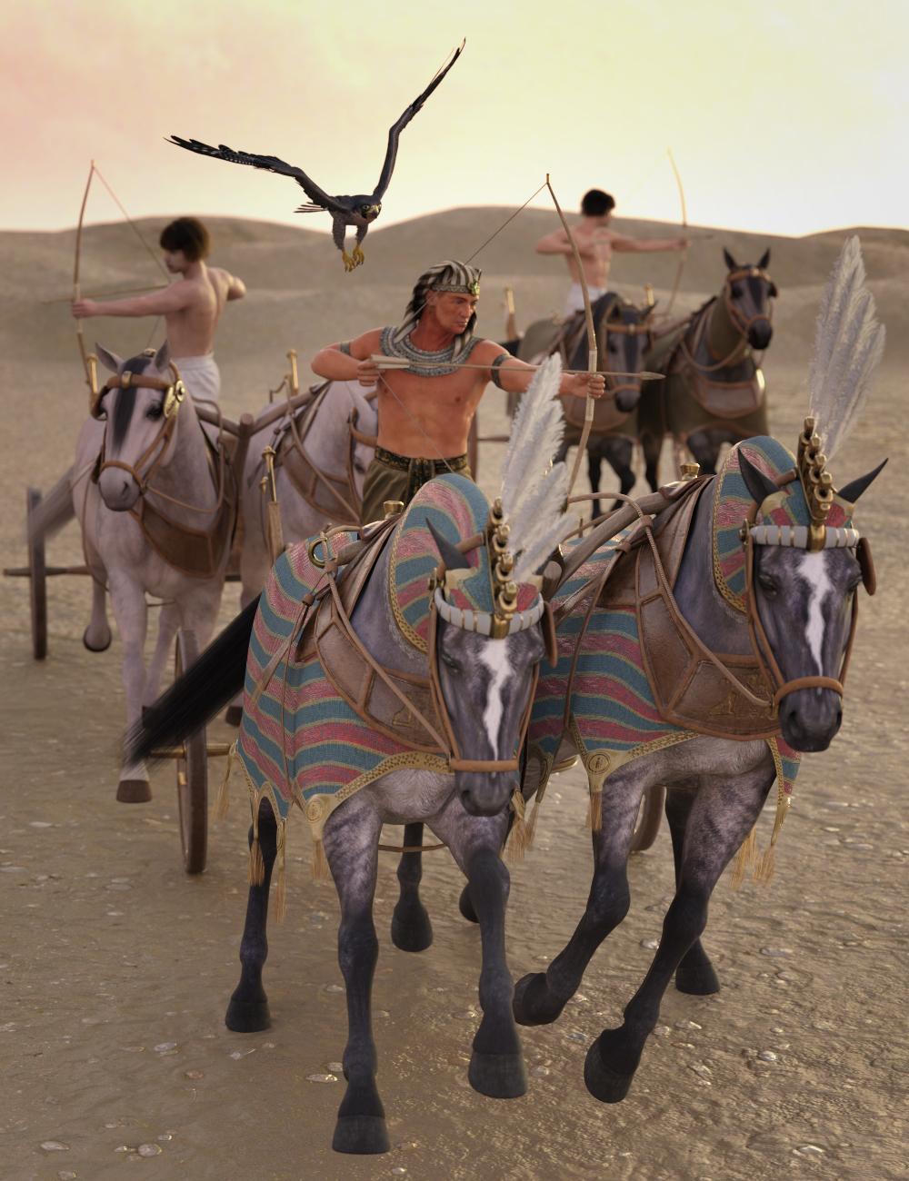 Egyptian Chariot Warfare for Daz Horse 2 by: Deepsea, 3D Models by Daz 3D