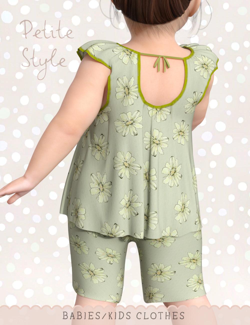 dForce Petite Style Clothing Set for Genesis 8 Female(s) by: elleque, 3D Models by Daz 3D