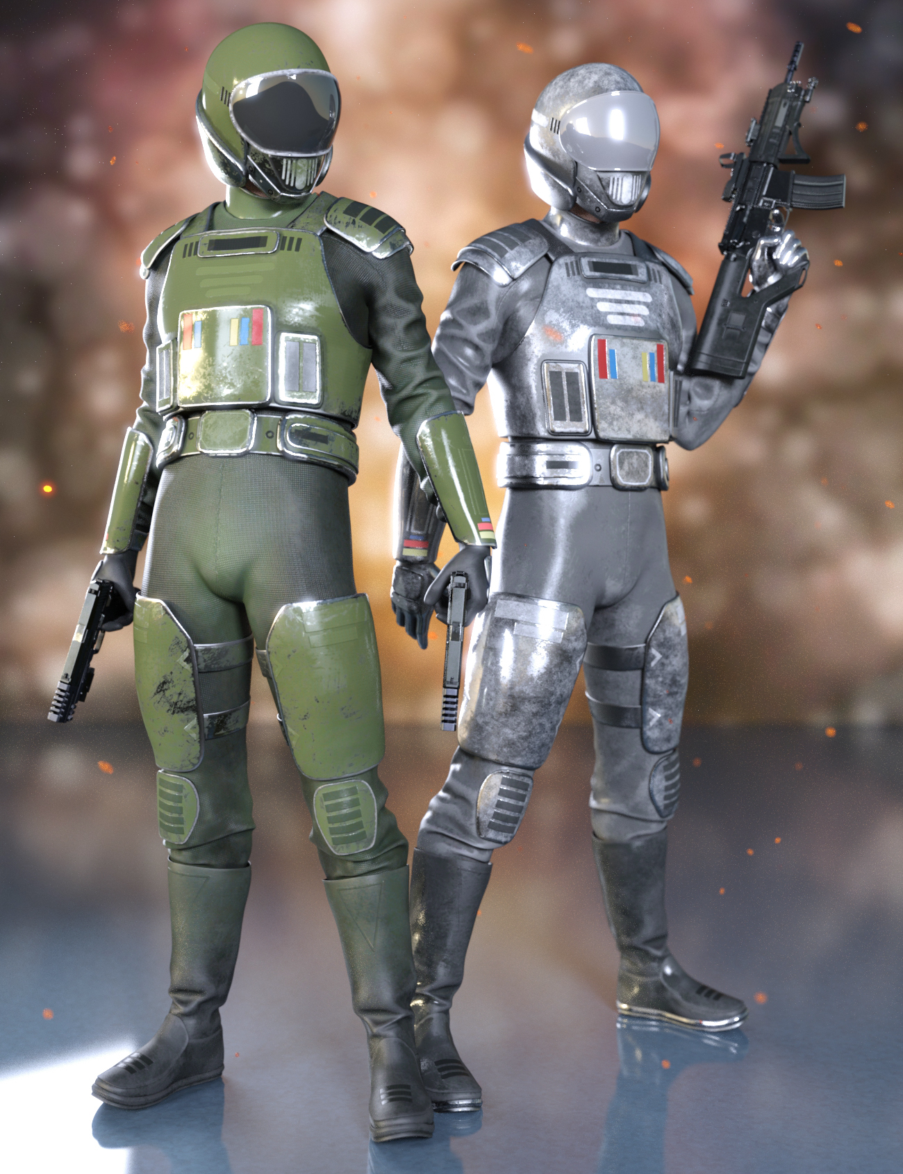 Sci-Fi Starship Pilot Texture Addon by: Yura, 3D Models by Daz 3D